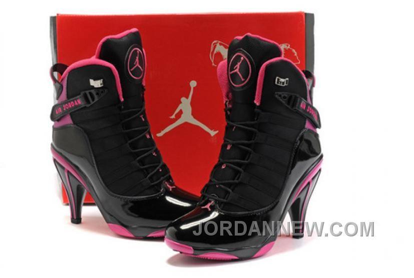 Women's Nike Air Jordan Six Rings High Heels Shoes Black/Pink Top Deals
