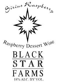 Sirius Raspberry Dessert Wine – Black Star Farms Online Store