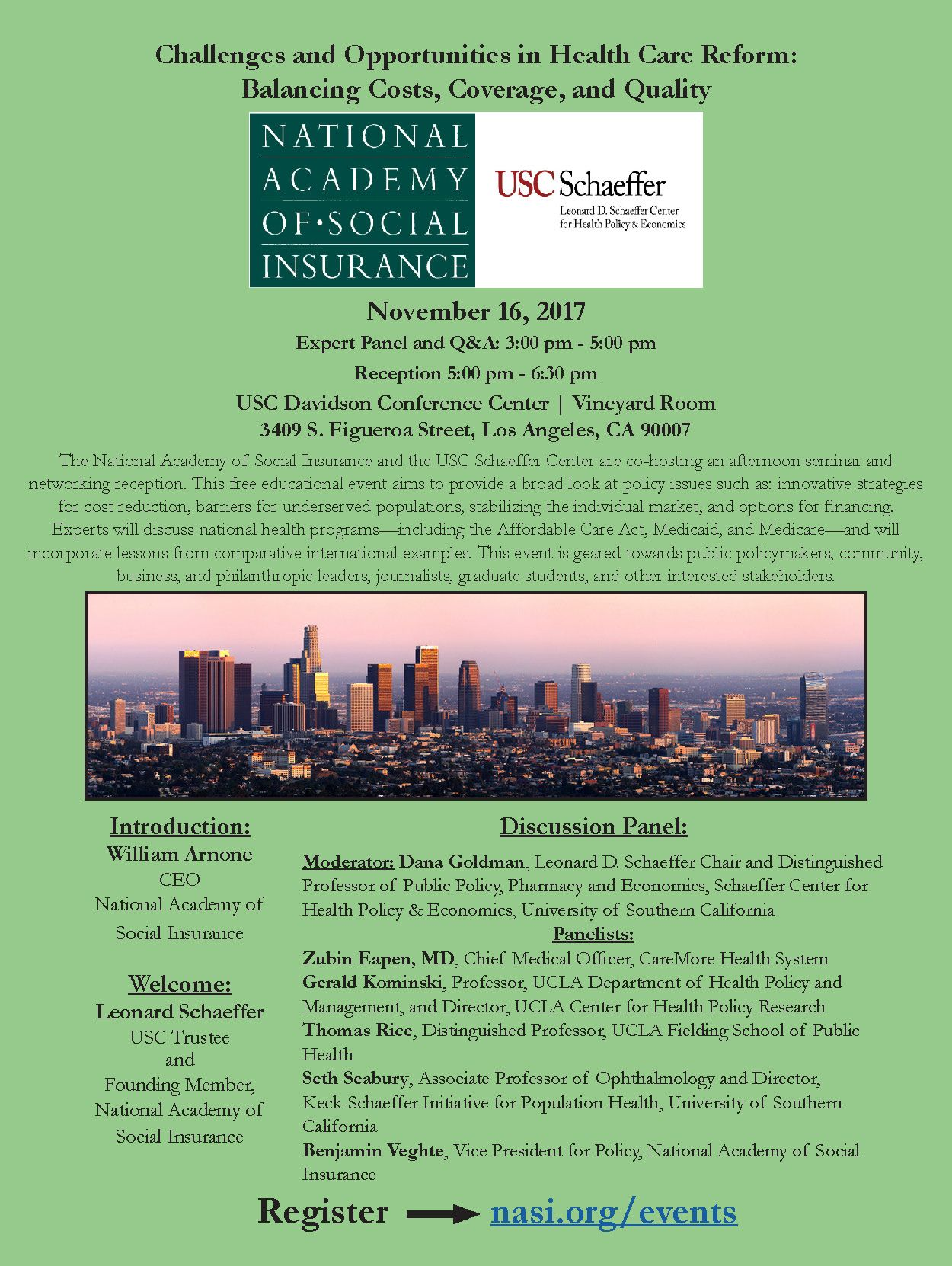 How can #health disparities be addressed in our society? Register for our seminar with the USC Schaeffer Center in LA on 11/16.