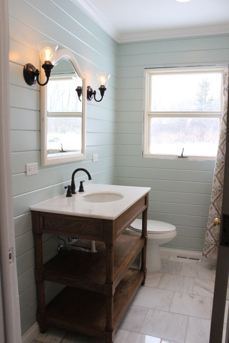 Bathroom Walls Ideas Love The Horizontal Boarding On The Walls To Build A Home