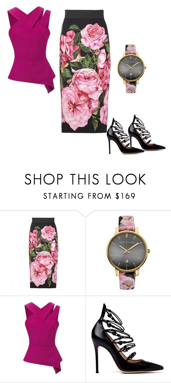 """""""Soft"""" by dedriaried ❤ liked on Polyvore featuring Dolce&Gabbana, Ted Baker, Roland Mouret and Gianvito Rossi"""