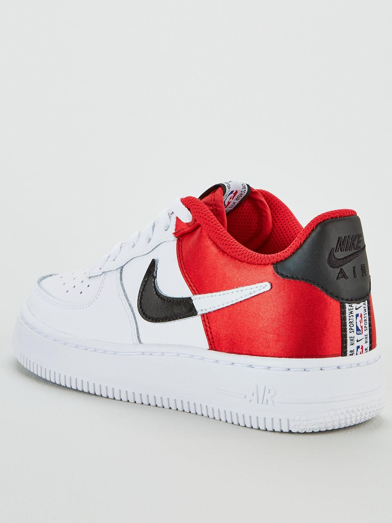 nike white & red air force 1 07 trainers