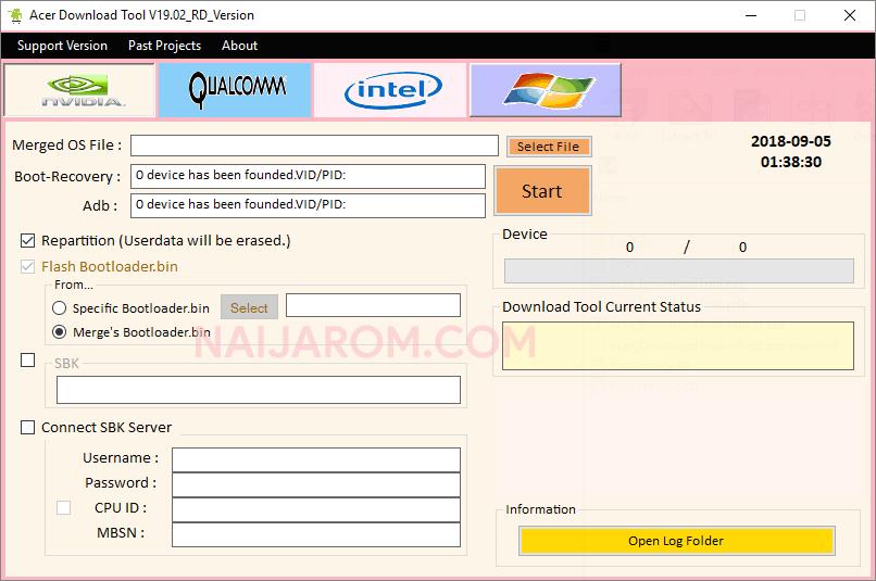 Acer Download Tool v19.02 Best Acer Flash Tool 2019