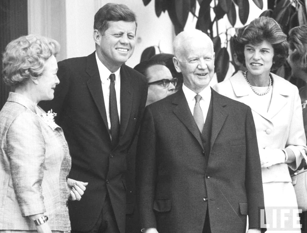 President of Germany Republic, Heinrich Lubke (2R) & wife entertaining President John F. Kennedys (2L) and Mrs. Sargent R. Shriver (R).Bonn, Germany June 1963 ♡❀♡✿♡❁♡✾♡✽♡❃♡❀♡ http://en.wikipedia.org/wiki/John_F._Kennedy http://www.jfklibrary.org/Asset-Viewer/Archives/JFKPOF-117-015.aspx http://en.wikipedia.org/wiki/Ich_bin_ein_Berliner http://www.nps.gov/nr/travel/presidents/john_f_kennedy_birthplace.html