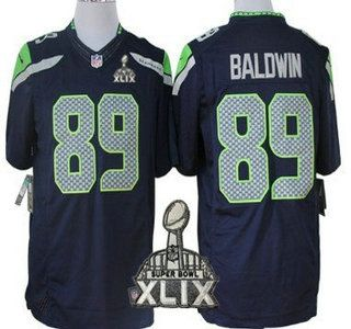nike seattle seahawks jersey 89 doug baldwin 2015 super bowl xlix navy blue limited jerseys
