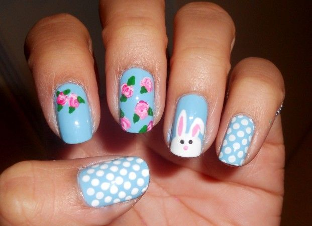 I don't like the bunny but I love how they did the flowers.  Drop colors and swirl.