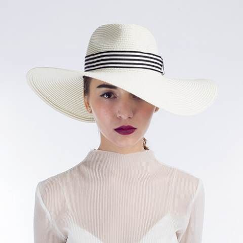 Hatband straw beach hats white wide brim hats for women  ab029bc773a