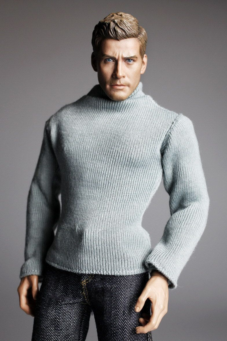 #mc0255 #Men's Fashion Design #Relax Milky Green Long Sleeve Jumper for 1/6 A,  View more on the LINK: http://www.zeppy.io/product/gb/3/275924944/