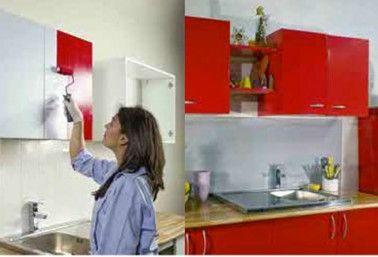 Relooker ses meubles de cuisine peu de frais repeindre for Peinture cuisine resine