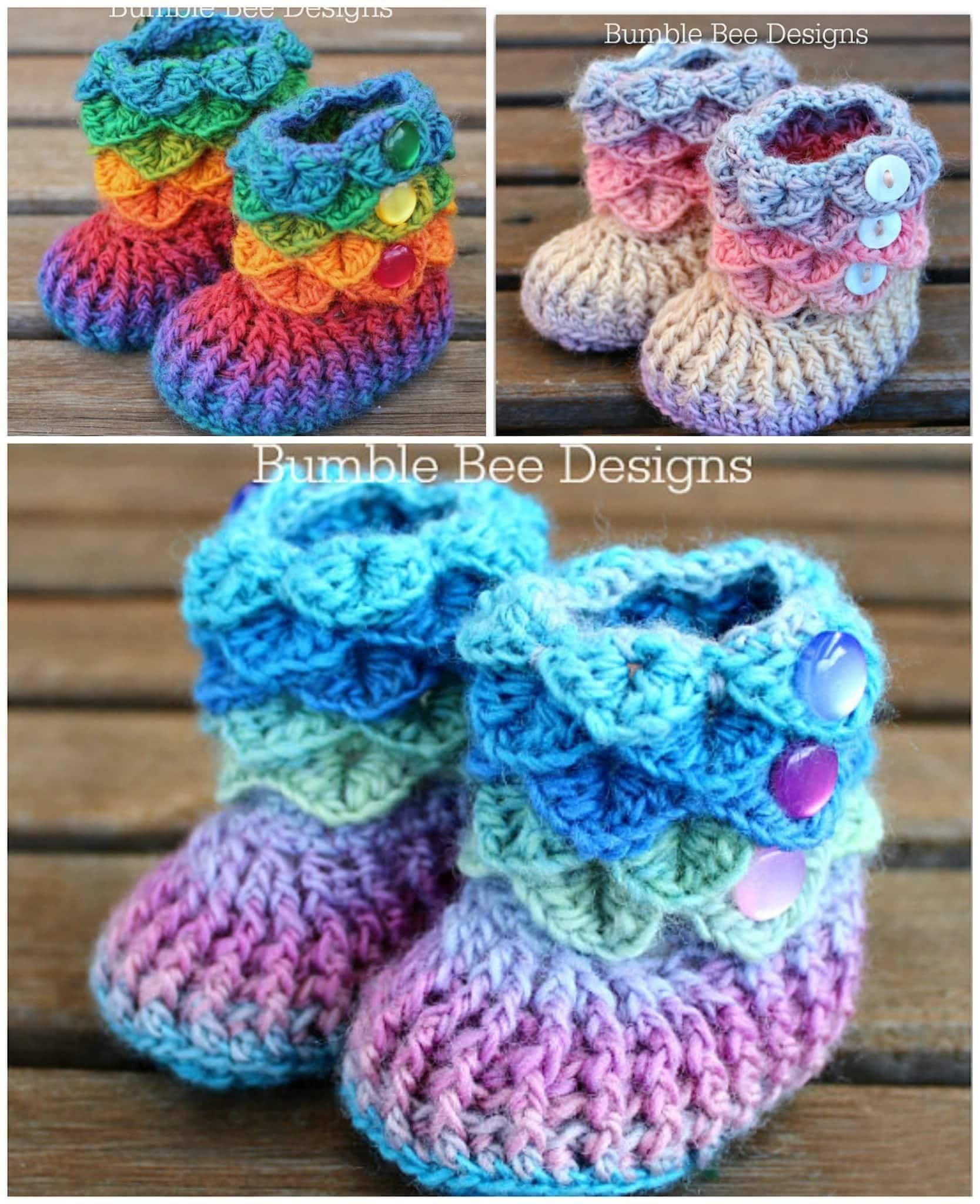 CROCHET CROCODILE STITCH BOOTIES...oh my cuteness!!! This pattern is ...