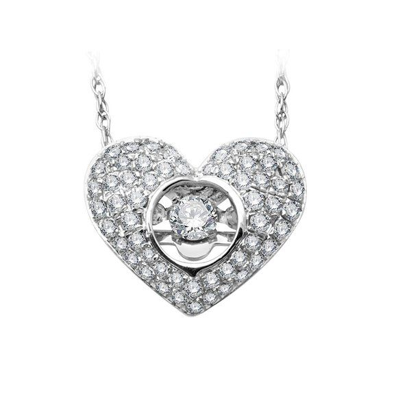 Amazon cheers collection 10k white gold heart diamond pendant amazon cheers collection 10k white gold heart diamond pendant necklace gh i2 aloadofball Image collections