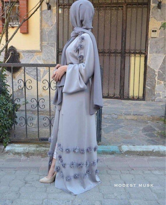 PREORDER – LILAC FLORAL Embellished Abaya