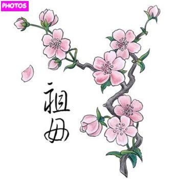 Cherry Blossom Tree Drawing Cherry Blossom Tree Blossom Tree Tattoo Cherry Blossom Tree Tattoo Blossom Tattoo