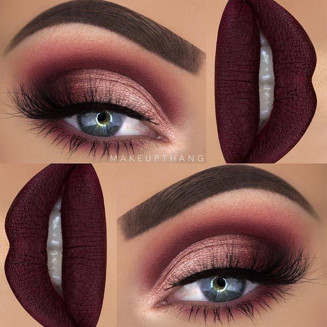 36 Best Maroon Matte Lipstick Shades To Look Stunningly Beautiful Maroon Makeup Burgundy Makeup Maroon Matte Lipstick