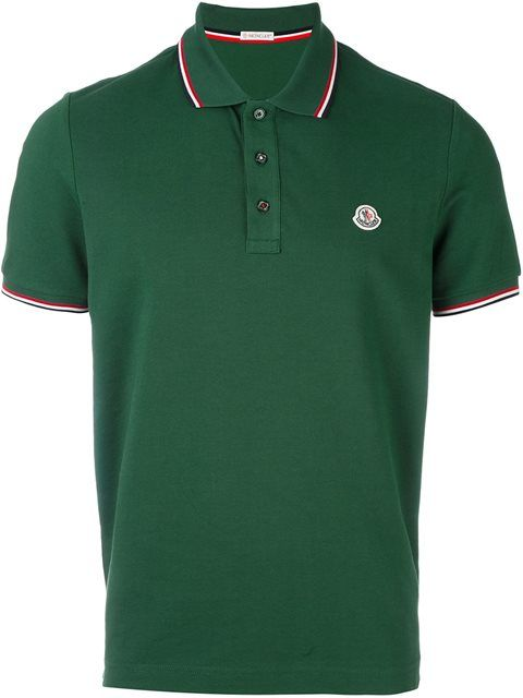 mens green moncler polo
