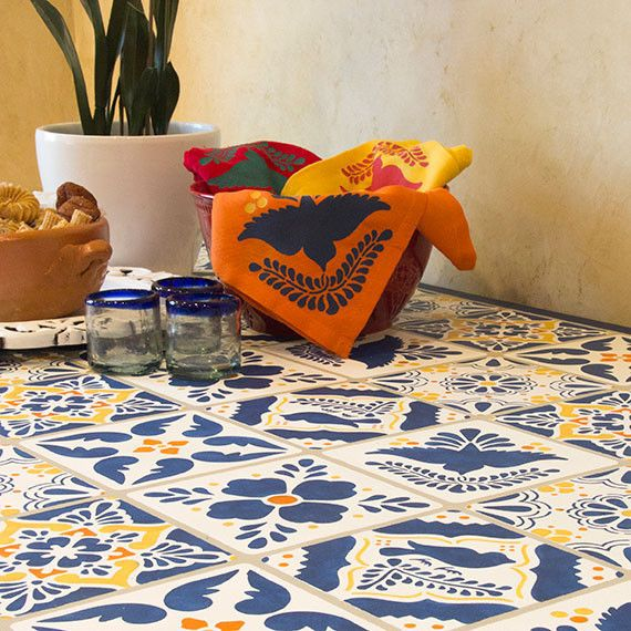 Talavera Tiles Furniture And Wall Stencils Are The Perfect Size For A Range  Of Projects.