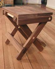 Scissor Stool Tutorial Folding Chair Plans Pinterest