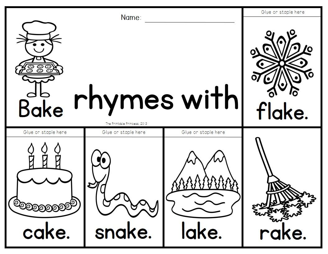 Rhyming Activities Flip Books To Teach Words That Rhyme