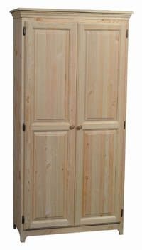 Whistle Top Furniture Unfinished Furniture Wood Pantry Cabinet