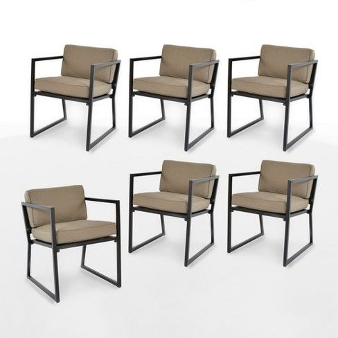 Modern 6pk Patio Dining Chair Tan Project 62 Target Patio