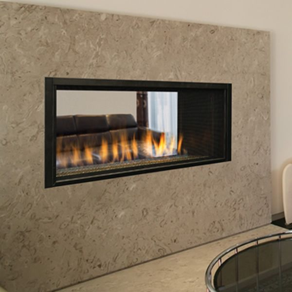 Superior Drl4543 Direct Vent See Thru Linear Gas Fireplace