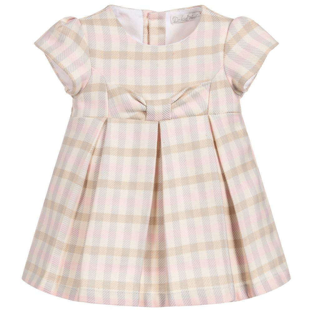 3d66941ce00ca Baby Girls Check Cotton Dress for Girl by Dr. Kid. Discover more beautiful designer  Dresses for kids online