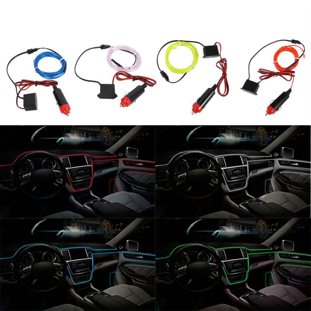 2M 12V EL Wire Cold Light Lamp Car Atmosphere Decor Lights w ...