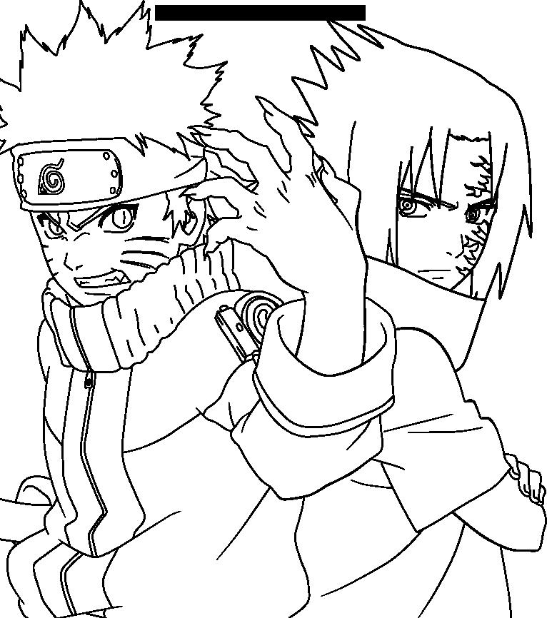Sasuke and Naruto lineart by Midonasan Naruto e sasuke