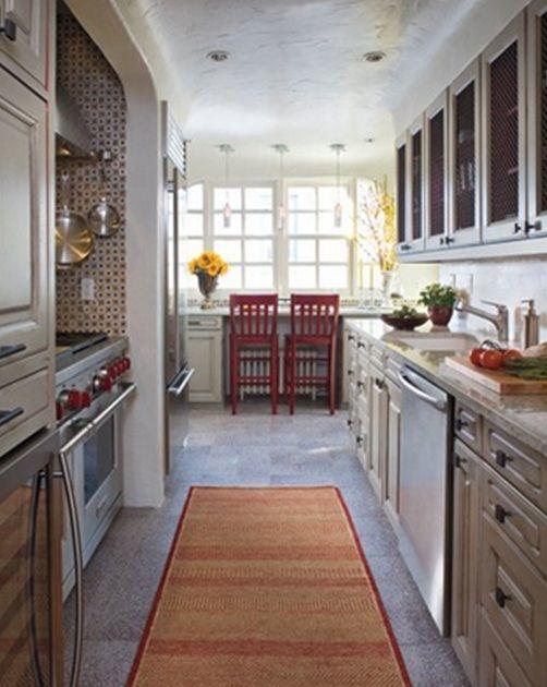 Cocina larga y angosta buscar con google deco cocinas - Cocinas largas y estrechas ...
