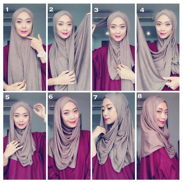 Pin By Rabia Rabia On Tutorial Hijab Scraf Hijab Fashion Inspiration Hijab Style Tutorial Hijab Tutorial