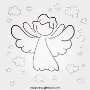 Angelitoooo Silueta De Angel Angeles Dibujos Imagenes Para Primera Comunion
