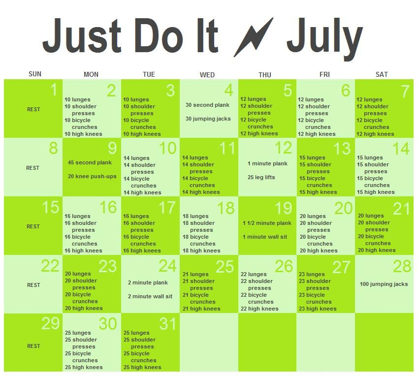 july workout