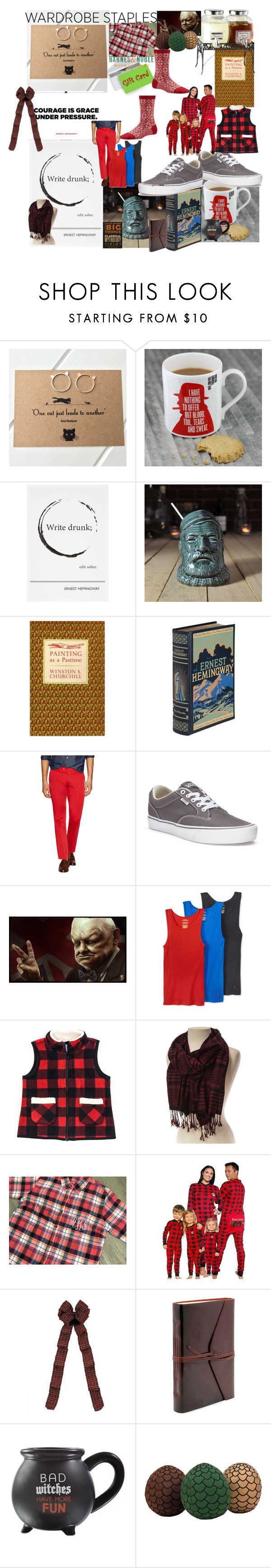 """Dudes love that store!!"" by lerp ❤ liked on Polyvore featuring Nest, Hemingway, Ernest Hemingway, Vans, Polo Ralph Lauren, Ballard Designs, men's fashion, menswear, plaid and WardrobeStaples"