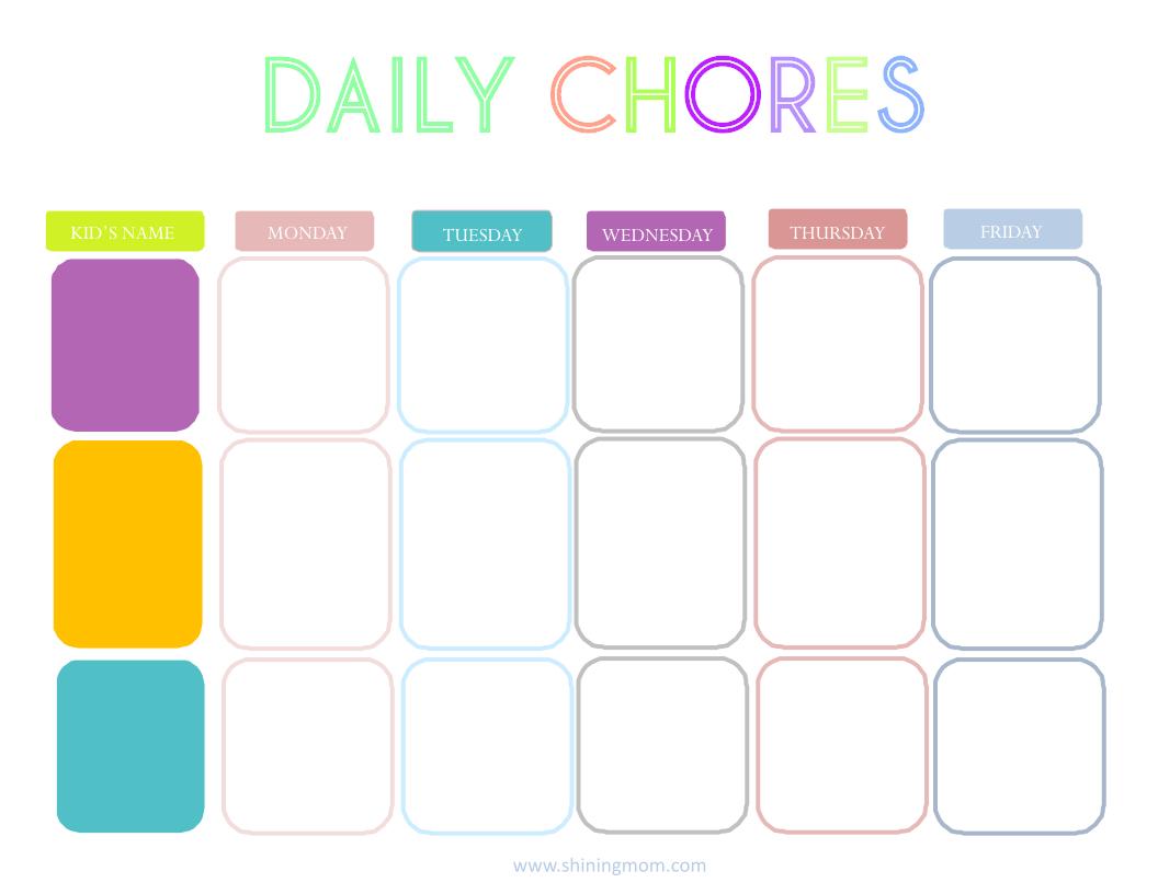 daily chore chart printable people davidjoel co
