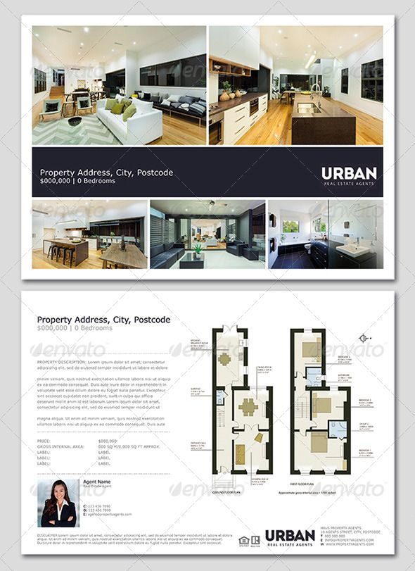 Modern Real Estate FlyerWindow Card  Real Estate Flyers Window