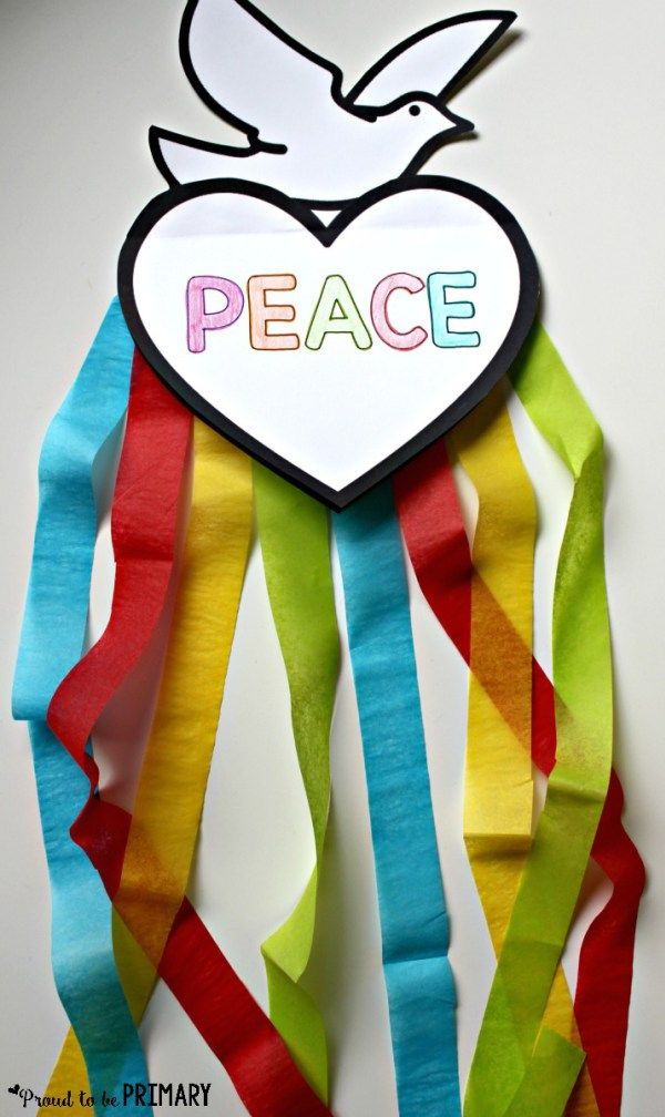 Dove Peace Foldable Writing Craft | Peace, Craft and Free