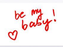 """Frühstücksbrettchen Motiv """"be my baby"""""""