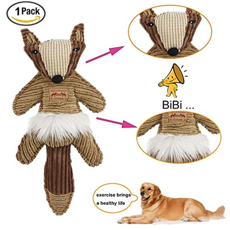 MYKEY Interactive Dog Toys Squeak Chew DogToys For Boredom