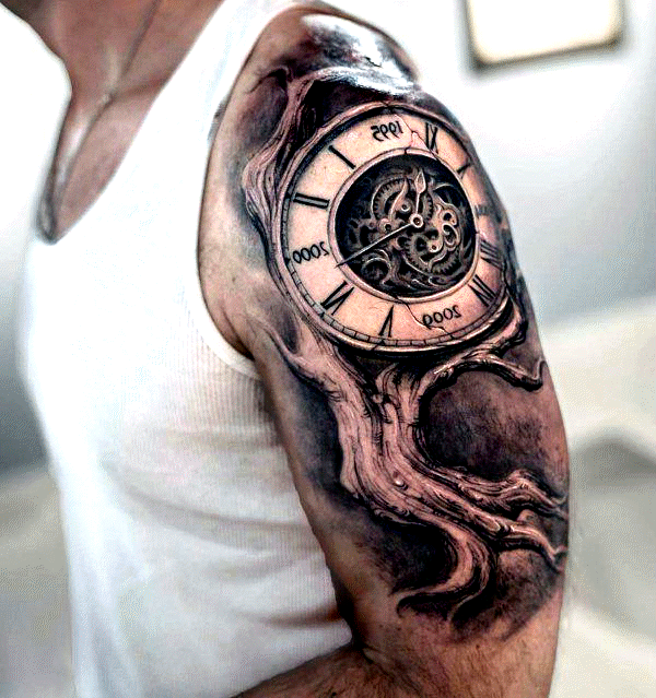 3dfamily Tree Family Men With Arm 3dfamilie Tree Family Mens With Upp In 2020 Half Sleeve Tattoos For Guys Bicep Tattoo Women Cool Half Sleeve Tattoos