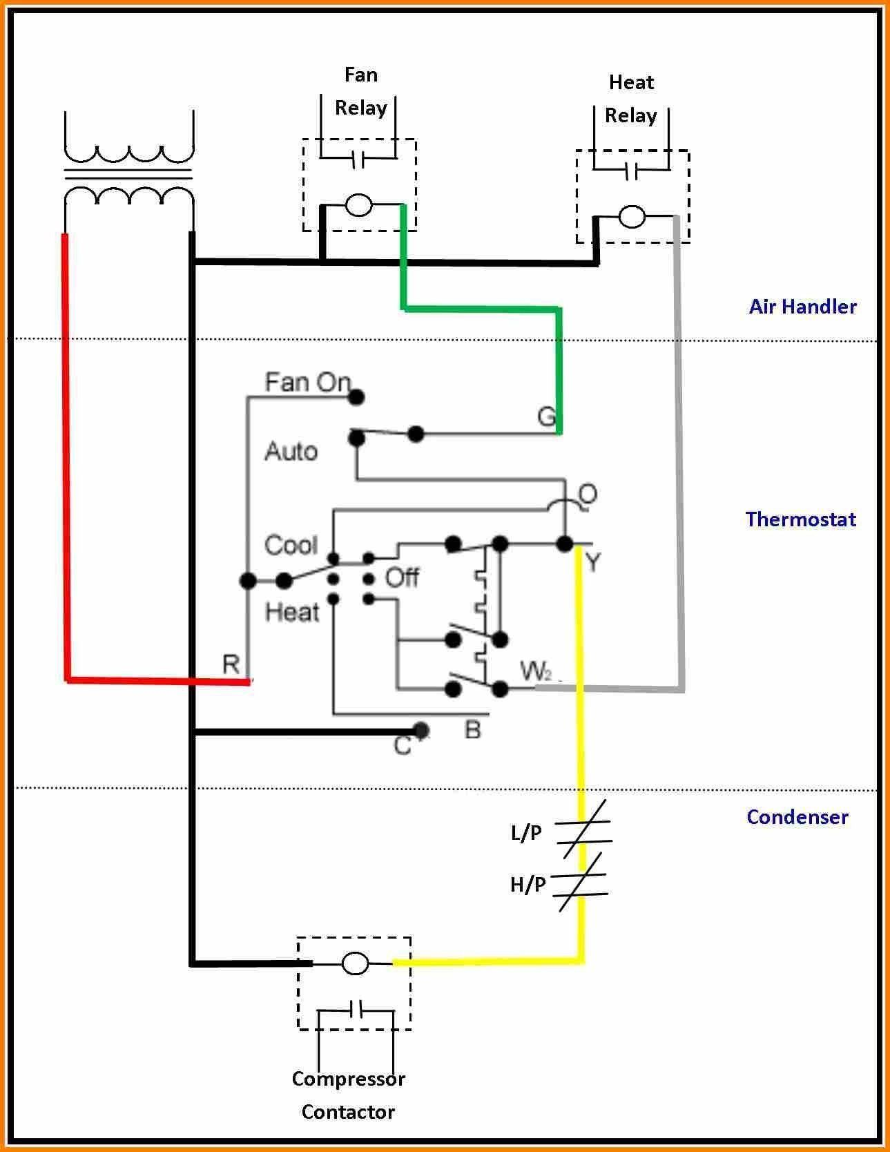 30 Lovely Ac Relay Wiring Diagram Thermostat Wiring Ac Wiring Electrical Circuit Diagram