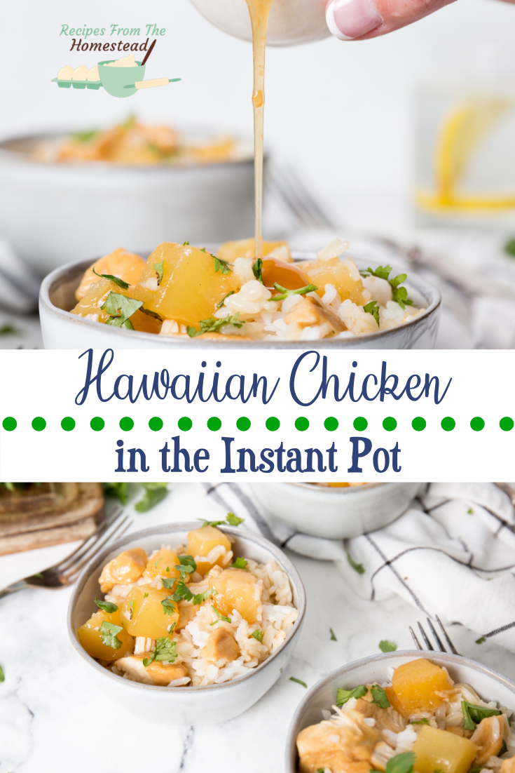 Tropical flavors from your Instant pot are yours! This sweet and slightly sour Hawaiian chicken is so easy, and family approved!  #Instantpot #chickenrecipes #easyrecipes #hawaiianchicken #hawaiianfoodrecipes