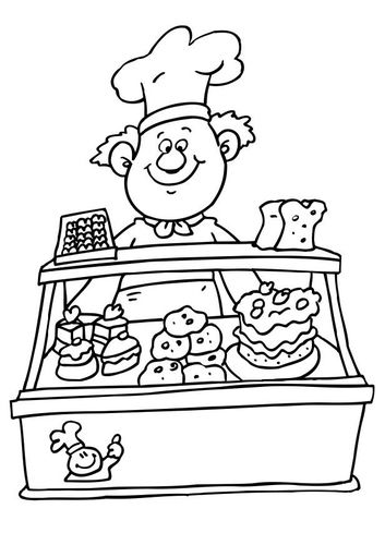 Coloring Page Baker Coloring Pages Free Coloring Pages