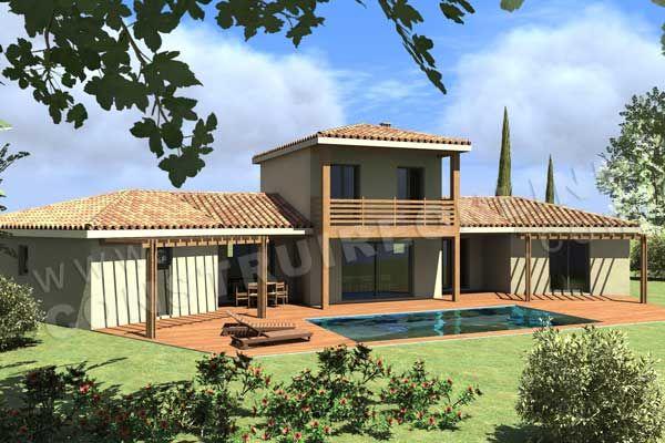 Plan de maison traditionnelle - Maison en V traditionnelle sur deux