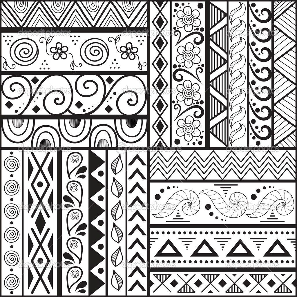 Simple Straight Line Art Designs : Easy patterns to draw cool but