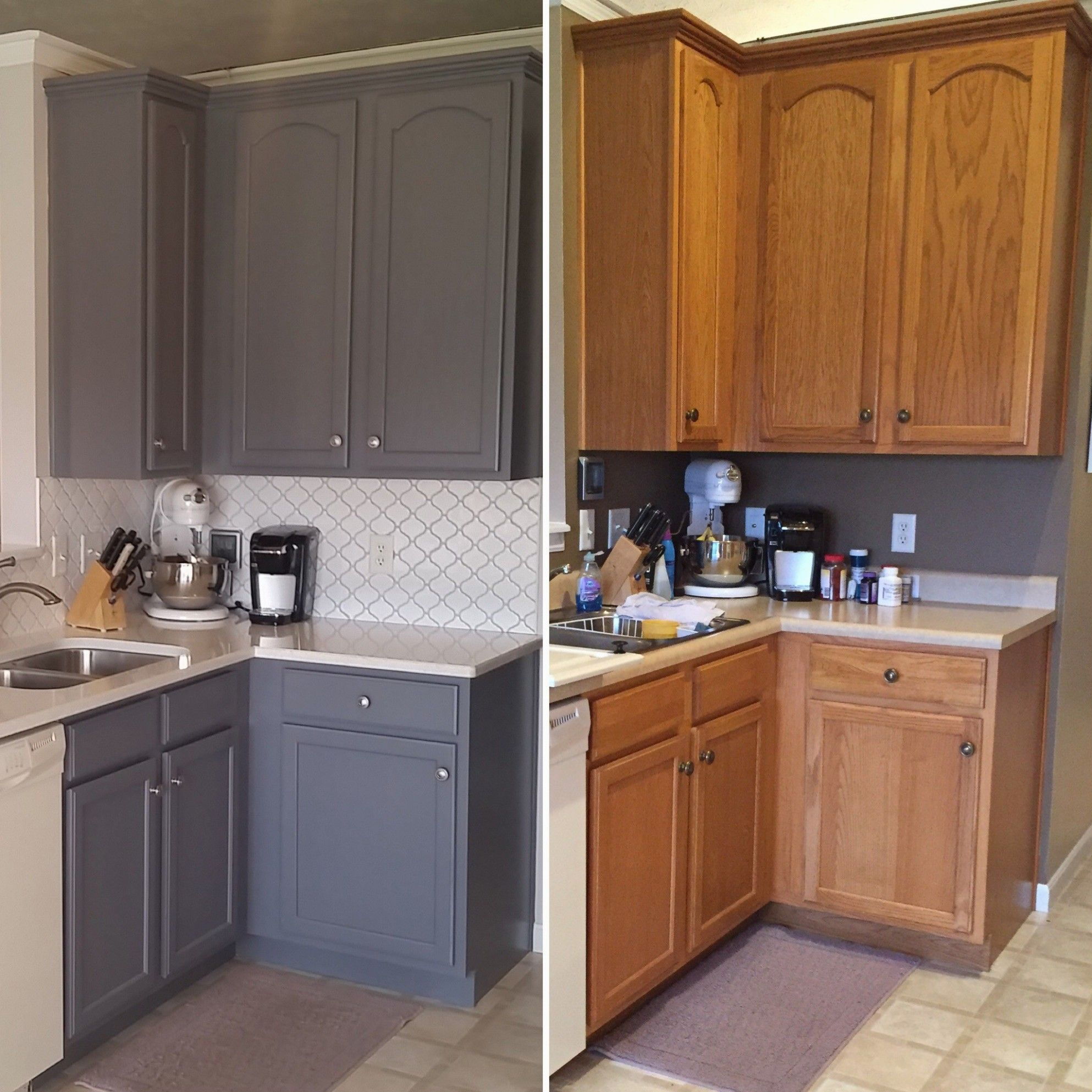 5 Ways Refinishing Oak Cabinets Before And After Can Improve Your Business In 2020 Kitchen Cabinets Kitchen Cabinets For Sale Chalk Paint Kitchen Cabinets