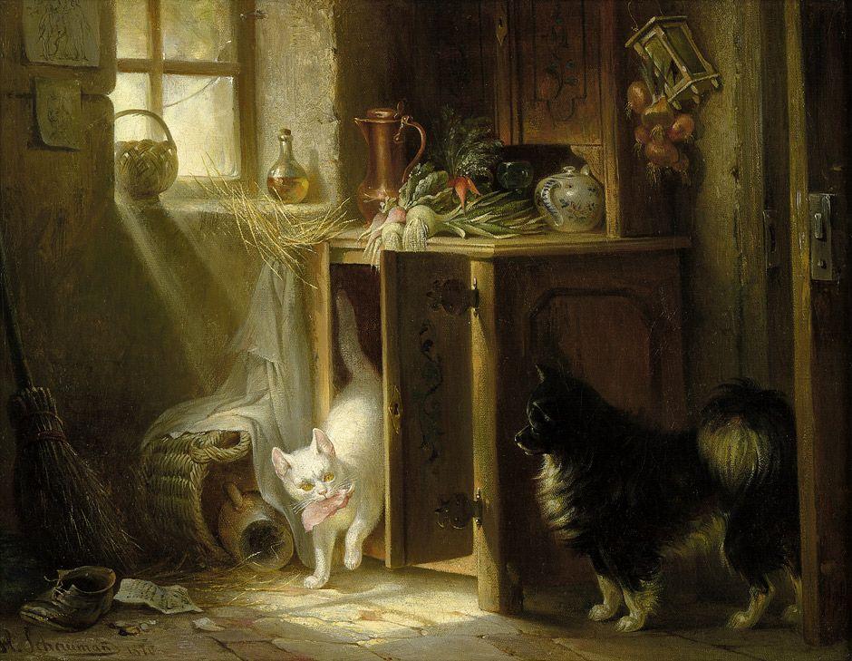 Caught By Wilhelm Heinrich Schaumann 1870 Dieren