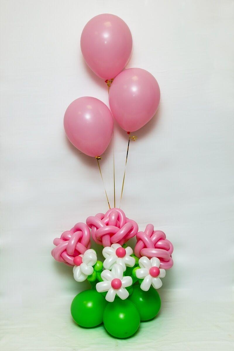 Фонтан на полянке | Воздушные шары, Цветы из воздушных ...