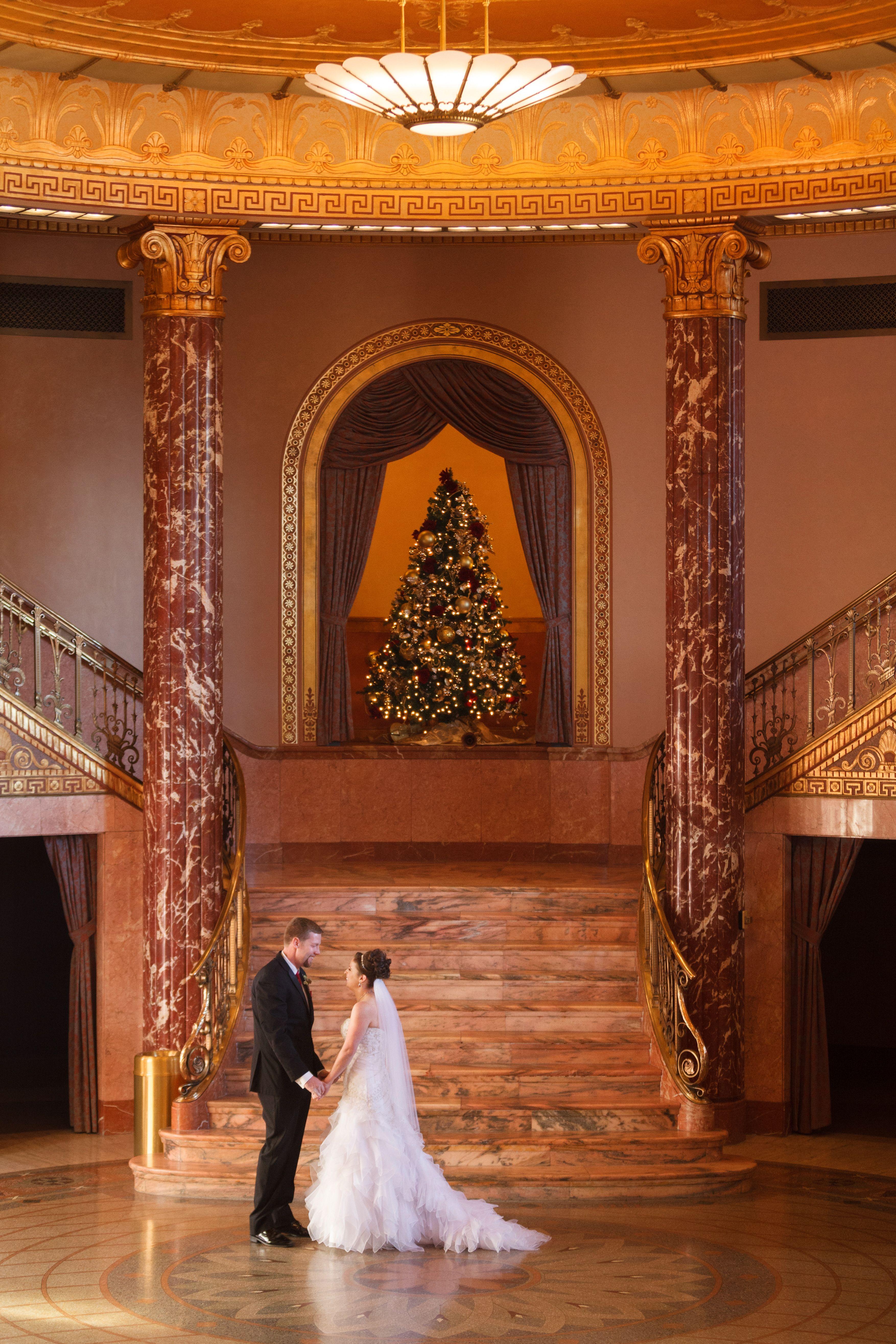 A classic winter wedding at cleveland botanical garden