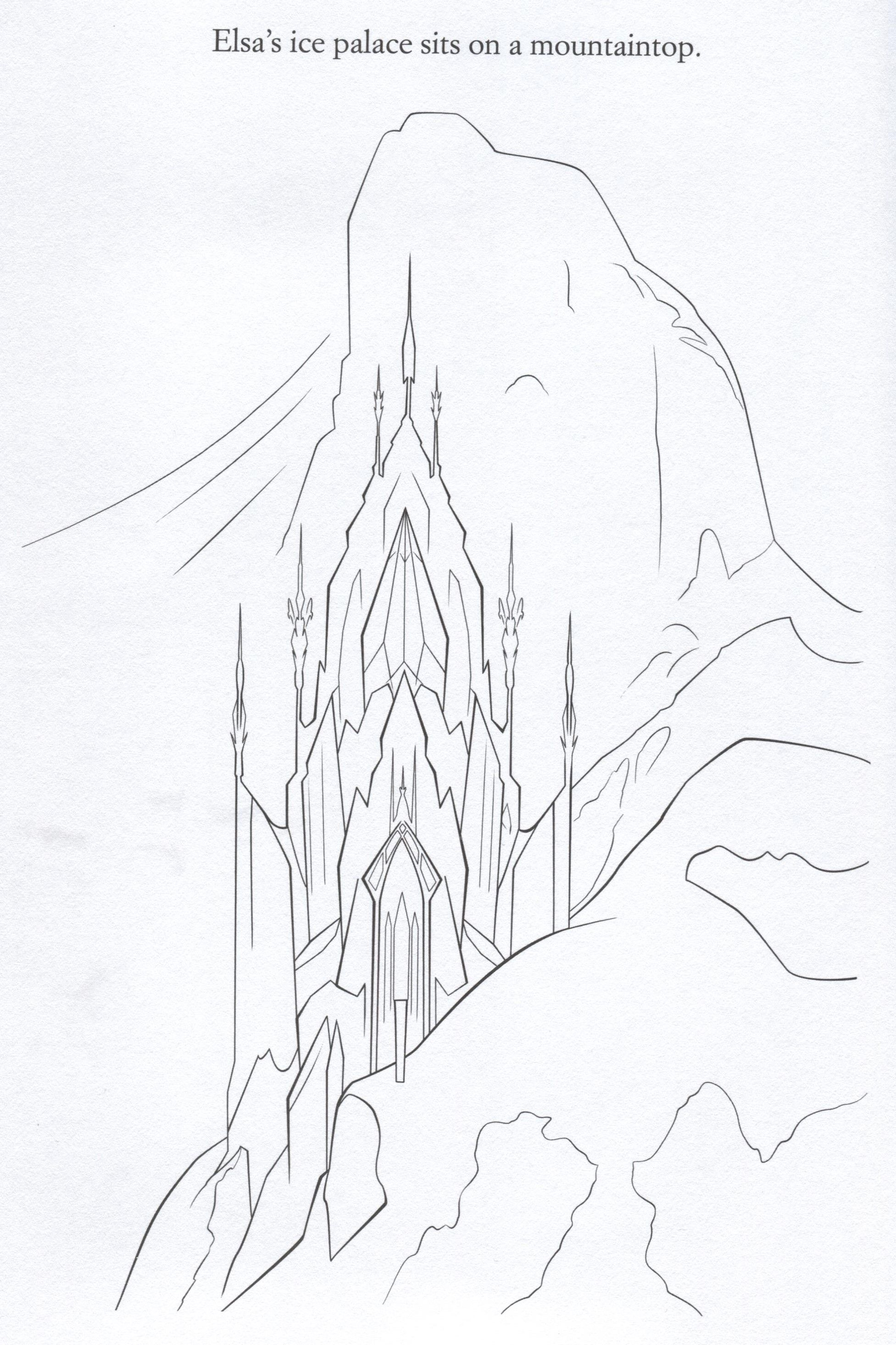 Frozen Coloring Pages Elsa Ice Castle Taken