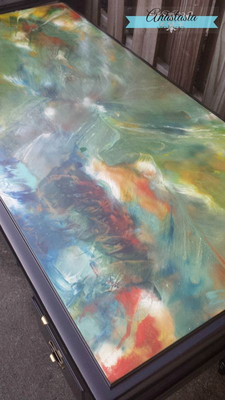 Curbside Desk Turned Watercolor Beauty Painted Furniture